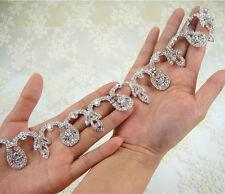Rhinestone Bridal Evening Dress Decor Ribbon Crystal Costume Wedding Craft Chain