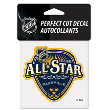 "NHL All Star Game 2016 Nashville Predators Perfect Cut Color Decal 4"" x 4"""