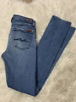 7 For All Mankind Women's Jeans Size 14 Roxanne Straight Skinny Denim Mid Rise