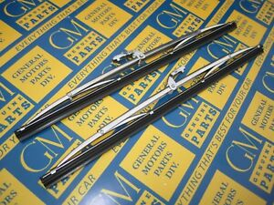1953-1956 Buick Cadillac Oldsmobile Pontiac Windshield Wiper Blades Pair