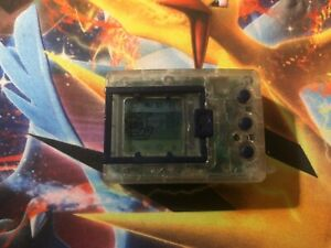 Original Genuine 1997 Bandai Clear Crystal Digimon Tamagotchi Virtual Pet
