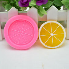 New Silicone Lemon Slices Fruit Mold Chocolate Fondant  Cake Mould Decor Tool DC
