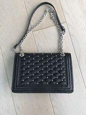 Black Zara Chain Bag Stud Handbag Fab Condition