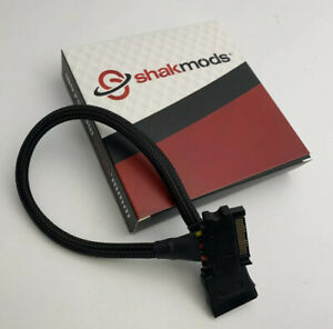 Shakmods Internal PSU SATA Power Extension Cable Black Sleeved 30 cm  Made in UK