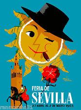 1965 Sevilla Seville Spain Europe European Vintage Travel Advertisement Poster