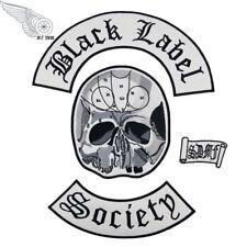 Excellent Black Label Society Embroidered Iron Badge/Patch 4pcs Back Set Biker
