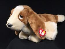 Ty Beanie Buddy • TRACKER™ Basset Hound Dog Puppy 1998 Retired NEW MWMTS