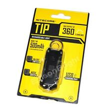 NITECORE TIP Black 360 Lumen Micro USB rechargeable Cree LED keychain light