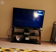 50 inch sharp tv and two TV stands