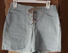 NWT Women's Gloria Vanderbilt Light Denim Shorts Jean Suede Tie front Size 8
