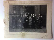 Vintage Real Photograph - #L - Large Wedding Picture - Men In Uniform