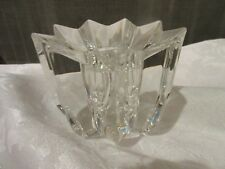 "Mikasa ""COMET"" Lead Crystal Taper Votive Candle Holder Star Shape -Discontinued"