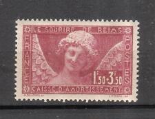 MH semi-postal stamp France Scott B34 Smile Of Reims