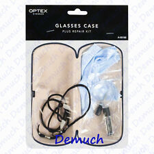 New Eye Glass GLASSES HARD CASE and REPAIR KIT Screwdriver Neck Strap UK SELLER✔
