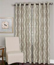 """Elrene Linen Blend Medalia 52"""" x 95"""" Window Curtain Panel - Linen"""