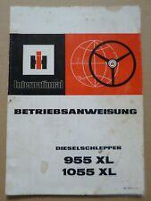 IHC Schlepper 955XL + 1055XL Betriebsanleitung