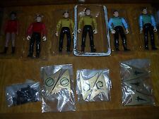1993 Playmates Classic Star Trek Bridge Crew Action Figure Lot Set 6 Uhura Spock