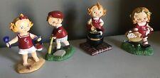 Lot 4 Danbury Mint 1997 Campbell Soup Kids Figurines
