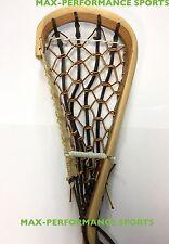 Mohawk Lacrosse Traditional Wooden Field Lacrosse Stick! Real Catgut Outdoor