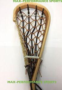 Mohawk Lacrosse Traditional Wooden Field Lacrosse Stick! MIL Wood Lax Outdoor