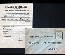 CHATEAU de CAISSARGUES (30) Monsieur le REGISSEUR / Enveloppe Entreprise VINS
