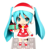 Hot Anime Christmas Vocaloid Hatsune Miku Cute PVC Figure Collect Toy Gift 3.9''