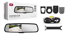 "Momento R1 Car Rear View Mirror with 4.3"" LCD Screen Dual Camera Inputs MR1000"