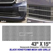 "5_Black Honeycomb Hexagon Mesh ABS Grille Fog Custom DIY 43""x15"" for TOYOTA Car"