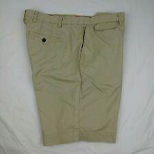 "Robert Graham 10"" Flat Front Khaki Shorts Men's 40W Classic Fit 100% Cotton"