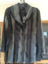 Women's Sandra Steiner Designer Faux Fur Jacket Coat - L (14) NEW