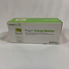 TrickleStar Plug In Energy Monitor Watt Meter 5 Modes CO2 Cost TS2001 890EM-US-W