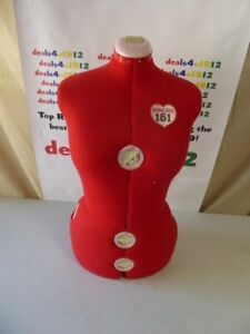 Singer 151 Red Torso Adjustable Dress Form NO Stand Very Good Pre Owned Cond