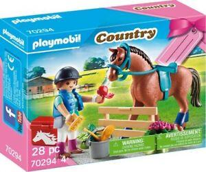 Playmobil 70294 Geschenkset Reiterhof Reiterin Perde Sattel Zaumzeug Zaun BoxNEU