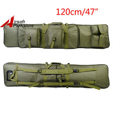 "Tactical 47"" Padded For Fishing Rod Gun Carbine Rifle Weapons Case Bag OliveDrab"