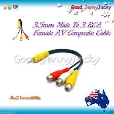 3.5mm To 3 RCA Female AV Composite Cable Multi-Compatibility OMTP for WD TV Live