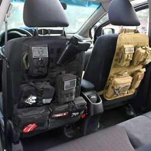 Tactical Molle System Car Seat Back Organizer, Molle attachments pouches,medkits