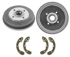 Rear Brake Drums and Shoes Fits 01-02 Kia Rio WITH 4 Wheel ABS