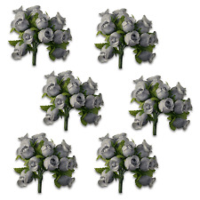Craft Flowers QTY 72 - Poly Rosebuds Grey