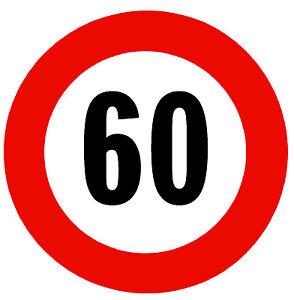 Straße Zeichen ( 60 Mph Speed Limit ) - Neuheit Kühlschrank Magnet - Safety
