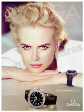 OMEGA luxury wrist watch - Nicole Kidman's choice advertisement A4 size HQ print