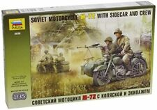 Zvezda 3639 Soviet Motorcycle M-72 With Sidecar And Crew 1 35
