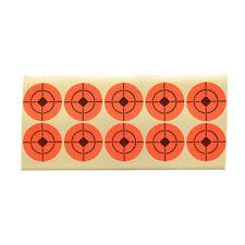 5pcs Neon Orange Self-Adhesive Bullseye Target Stickers for Shooting 4/5/7.5cm