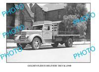 OLD LARGE PHOTO OF GOLDEN FLEECE TRUCK c1940 SYDNEY 2