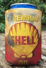 Vintage Distressed Oil Can Shell Premium can cooler koozie festival Garage gift