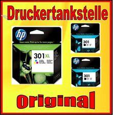2x original HP 301 black + HP 301XL color Deskjet 1000 1050A 2000 2050A 2054A