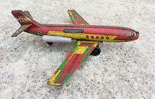 1960's Vintage Rare V 68 Indien Air Force-Vti Étoile Jet Friction Tin Avion Toy