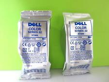 LOT OF 2 DELL X738N COLOR INK CARTRIDGE SEALED FOIL BAG/Genuine/DELL V313,V313W