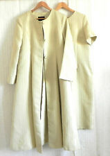 AS.HRO 2PC Short Sleeve Dress/ Maxi Flared Coat Light Yellow Size 12(Fits US 2XL