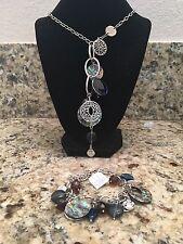 "Lia Sophia Winding Necklace 22-25"" & Bracelet Set NWT"