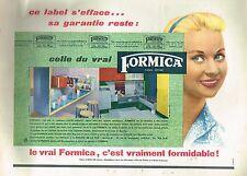 C- Publicité Advertising 1956 Les Cuisines meubles Formica